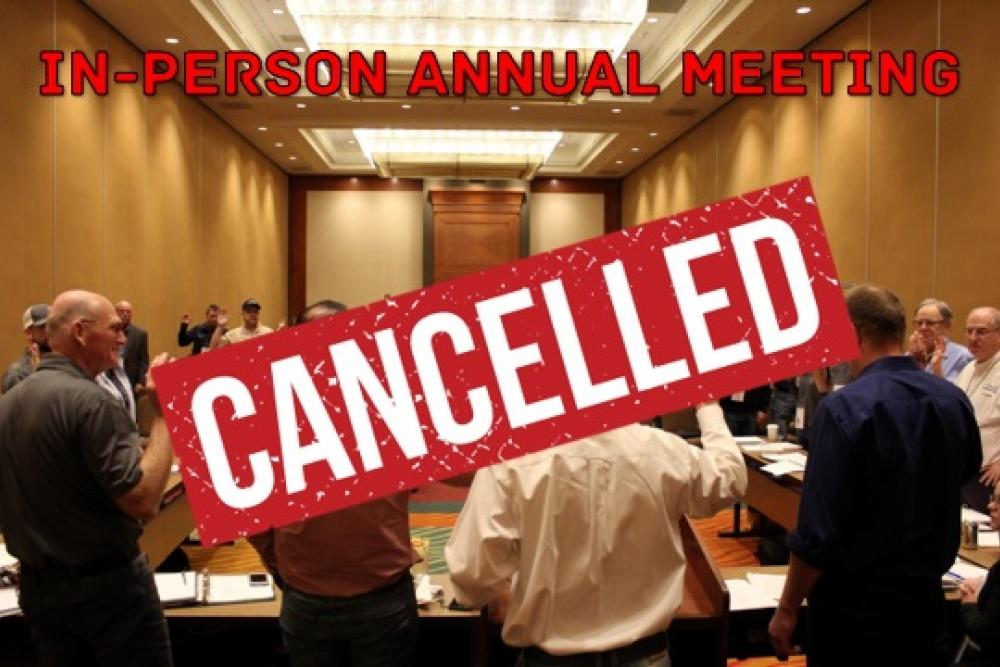 In Person Meeting Cancelled
